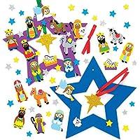 Baker Ross Kit de Couronnes Nativité (Paquet de 2) - Loisirs Créatifs et Décorations de Noël pour Enfants