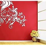 DECOR Kafe Home Decor Sided Swirl Design Wall Sticker, Wall Sticker For Bedroom, Wall Art, Wall Poster (PVC Vinyl, 33 X 40 CM)