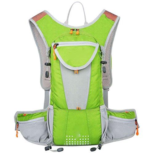 Idratazione Idrica Idratazione Idraulica Della Vescica Zaino Impermeabile In Esecuzione Ideale Per Gli Sport All'aria Aperta,RoseRed Green