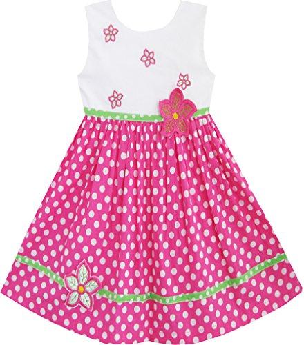 Mädchen Kleid Rosa Punkt Blume Bestickte Gr.92 (Mädchen-kleid Bestickte)