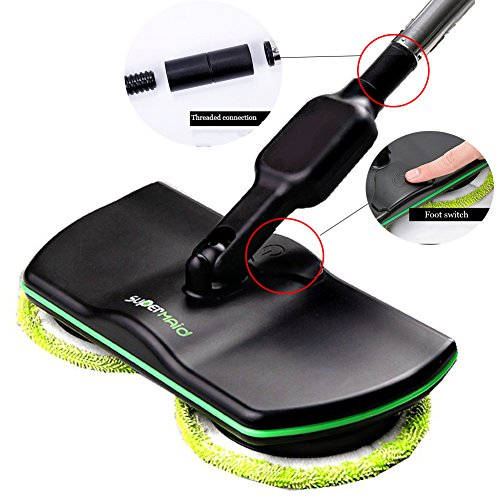 Uhruolo Elektrischer Mopp Drahtloser Bodenreinigung -Reinigungs-Handspinnender Mopp-Wieder Aufladbare Angetriebene Boden-Reiniger-Wäscher -