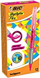 BIC 949894 Textmarker Highlighter Flex, 12 Stück Pink