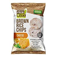 RICE UP Brown Whole Grain Rice Chips Cheese, 60g