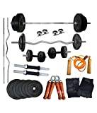 #9: Bodyfit BF Home Gym Combo 20 Kg Weight + 5 Ft Plain Rod + 3 Ft Curl Rod + All Gym Accessories
