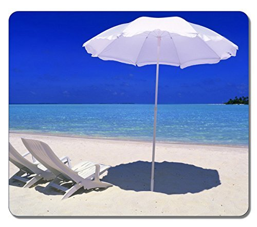 Creative Painting Custom Rectangle Casual Sun Umbrellas And Beach Chairs Large Mouse Pad High Quality Durable Mouse Mat Gaming Mouse Pad by Mouse Pad