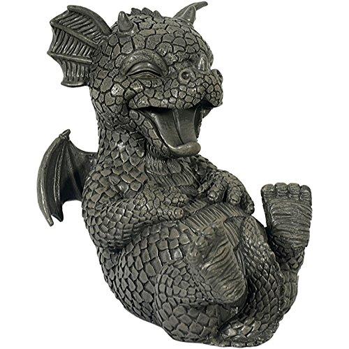Dekoration Gargoyle (Gargoyle Gartendrache lacht Drachenkind Deko Drache)
