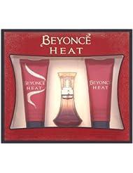Beyoncé Heat Coffret cadeau avec eau de parfum 30 ml gel douche 75 ml et lait pour le corps 75 ml