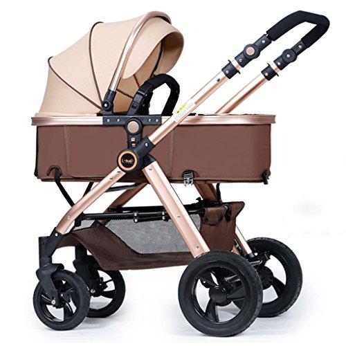 Poussette ERRU bébé/Deux voies peuvent être assises Chariot bébé pliable à quatre...