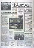 AURORE (L') [No 10122] du 01/04/1977 - COUP D'ENVOI POUR LE 15 DE BARRE - LE GRAND EXODE PASCAL COMMENCE - LES GONCOURT AU HAVRE CHEZ SALACROU POUR ELIRE NOURISSIER ET ANDRE STIL - LES SPORTS - BASKET - BOXE - APRES L'ECHEC DES POURPARLERS AVEC VANCE