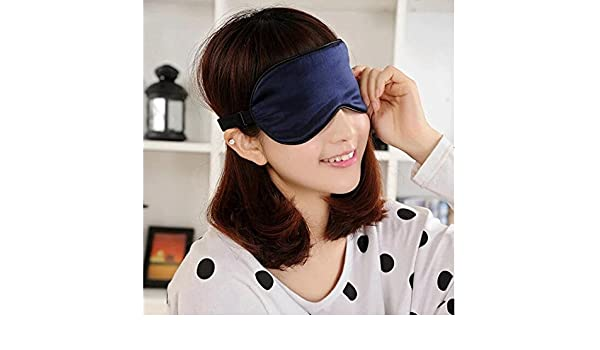 a4d15166c NEW Silk Sleep Mask Soft Eye Mask Sleeping Aid Shade Cover 22.5 11Cm  Sunlight Blocking Out Blindfold Unisex Braces  Amazon.in  Beauty