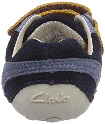 Clarks Tiny Dexton Baby Jungen Lauflernschuhe Blau (Navy Combi Sde)