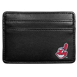 MLB Cleveland Indians Leather Weekend Wallet, Black