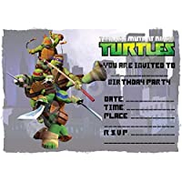 A5 NICKLEODEON CHILDRENS PARTY INVITATIONS X 12