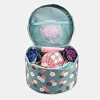 VMORE Barrel Shape Women Ladies Kits Bra Underwear Lingerie Cosmetic Storage Toiletry Bag Pouch