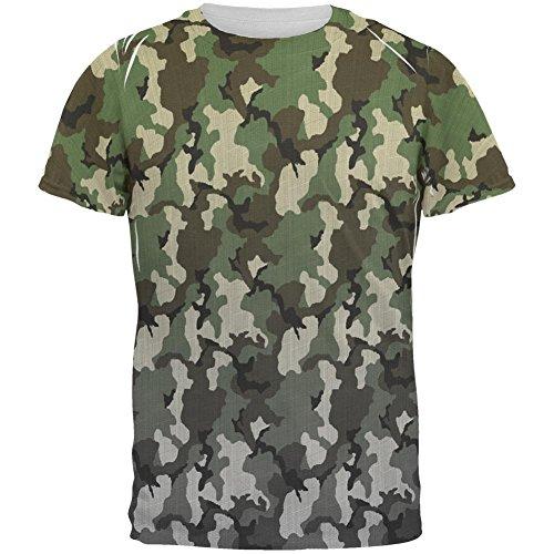 Verblasste Camo aller Herren-T-Shirt Multicoloured