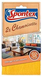 Spontex  Ménage  2 Chamoisettes  Lot de 3