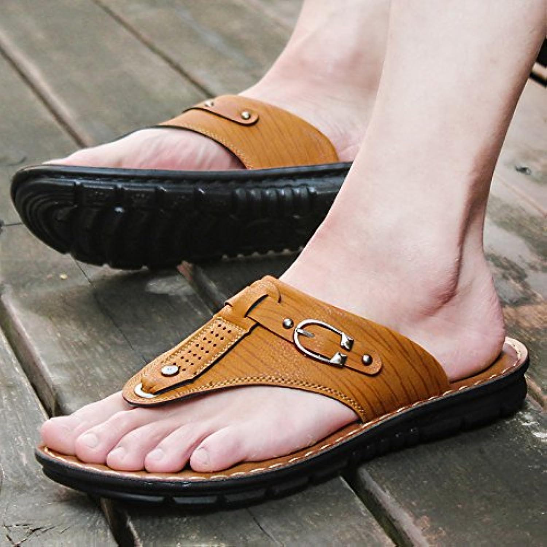 ZHANGJIA der Sommer Herren Sandalen  Legere Schuhe  Rutschfeste und Wearable Koreanische Hausschuhe  39  LichtZHANGJIA Sandalen Rutschfeste Koreanische Hausschuhe
