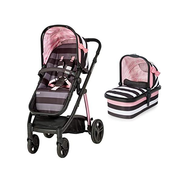 Cosatto Wow Pram and Pushchair, from Birth Carrycot and Pushchair Suitable upto 25 kg, GoLightly 3 with Footmuff and Change Bag Cosatto Backed by science, Cosatto prams are ideal for your baby; the patterns in Cosatto hoods are designed to stimulate your baby with bright, eye-catching colour and storytelling pattern Includes the from-birth carrycot (suitable for occasional overnight sleeping), then swap to pushchair unit, suitable up to 25 kg, with parent and world facing options and four recline positions The Cosatto Footmuff warms the cockles of our hearts It is literally one huge hug for your dot; it is custom crafted to fit your Cosatto pushchair perfectly 2