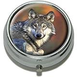 Wolf Pill Case Trinket Gift Box