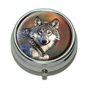 Wolf Pill Case Trinket Gift Box