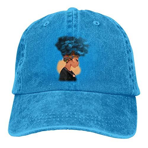 Bee Brown Unisex Erwachsene Vintage Washed Baseball Cap Verstellbarer Papa Hut - Afrika Frauen blau Haar schwarz -