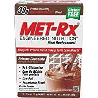 MET-Rx Meal Replacement Protein Powder - Chocolate - 18 - 2.54 Oz (72 G) Packets [45.7 Oz (1.29 Kg)]