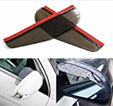 #4: NIKAVI 2Pcs/set Creative Fashion Universal Rear View Black Side Mirror Rain Snow Shield For Car Auto (Size: 17.6cm by 5.9cm (BLACK)