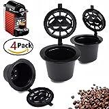 4 Pcs Maison de cuisine rechargeable Café Capsule Tasse réutilisable filtre de remplissage pour machine Nespresso By +ing