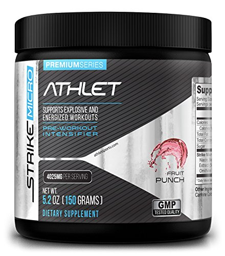 athlet-strike-micro-fruit-punch-150-gr-52-oz-pre-workout-endurance-extreme-energy-recovery