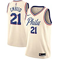 "Nike NBA Philadelfia 76ers Sixers Joel Embiid 21 ""The Process"" 2017 2018 City Edition Jersey Official, Camiseta de Niño"