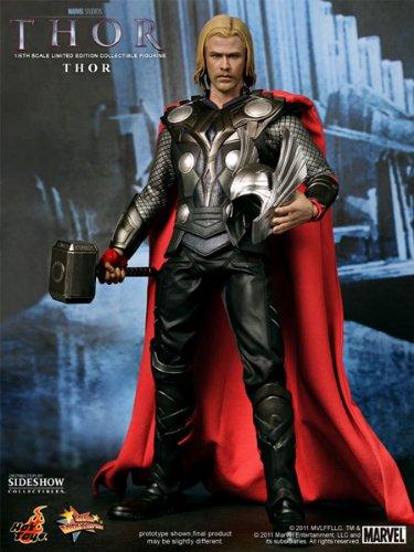 Thor The Movie - Thor 30cm Movie Masterpiece voll bewegliche Actionfigur limitiert (Thor Hot Toys)