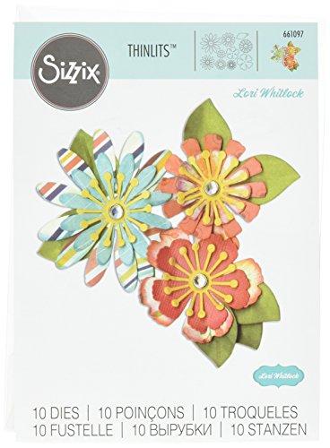 sizzix-661097-lot-de-10-thinlits-dies-mix-fleuri-par-lori-whitlock-metal-multicolore-205-x-134-x-04-