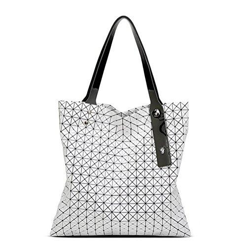 Women-Bag geometrische Schultertasche Marke Style Bag Casual Totes beste Geschenk für Mädchen (Womens Importiert White)