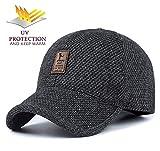 Herren Baseball Cap, Sport Hüte Für Männer und Frauen Reisekappe Geeignet Für Golf Angeln Klettern Baseball Kappe (schwarz)