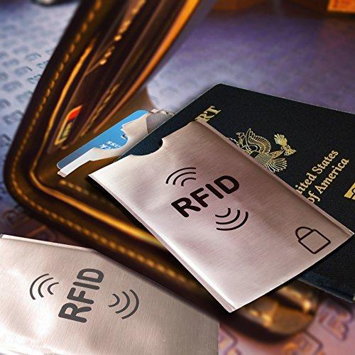SMING Travel Neck Pouch-Pass-Halter mit RFID-Schutz- Compact Neck Wallet(2 pack) with free bonus RFID Sleeves RFID card holder 12 Pack