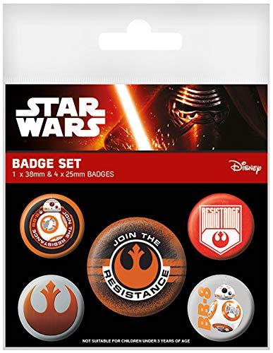 Fantastic Beasts D831505 Star Wars Episode 7 Button Set (5-teilig) Resistance, Mehrfarbig, Preisvergleich