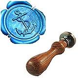 Vintage Fancy Verankert Custom Bild Logo Hochzeit Einladung Wachssiegel fadensiegelung Stempel Set Kit Stamp Only