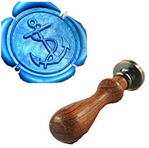 Vintage Fancy Verankert Custom Bild Logo Hochzeit Einladung Wachssiegel fadensiegelung Stempel Set Kit Stamp Only (Anker-kits)