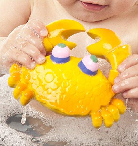 Naturkautschuk Badespielzeug Kobi der Krab Gelb