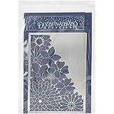 Stampendous metal DREAMWEAVER plantilla para esquina, de 15,2x 8.75-inch Flores