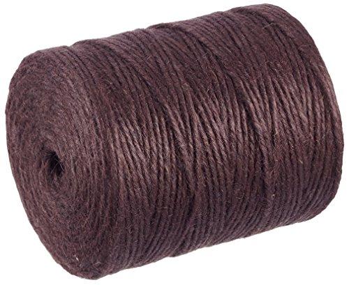 Rayher Hobby 4200305 jutegarn 4 prises câble 3 5 mm diamètre de bobine (280 m bleu foncé) marron