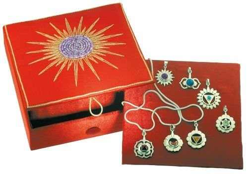 Chakra-Box mit 7 Chakra-Anhängern Symbol Schmuck Esoterik günstig kaufen online
