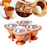HSTV Metal Copper Eggs Cooking Pods Tool Anti Sticky Microwave Oven Egg Cooker With Lid Chef Egg Poachers Poached Baking Cup