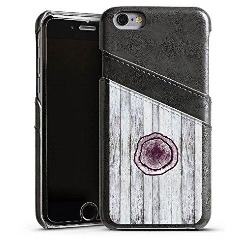Apple iPhone 4 Housse Étui Silicone Coque Protection Tronc Look bois Tronc d'arbre Étui en cuir gris