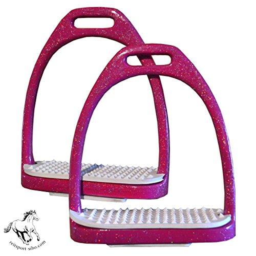 Steigbügel Glamour, mit Glitter/Glitzer 12 cm, pink