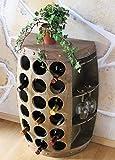 Portabottiglie 1486 di vino a barile con Scaffale per vini altezza 72 centimetri botte armadietto, tavolino, wine bar in legno immagine