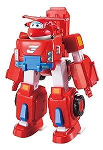 SUPER WINGS Deluxe EU720311 Transforming Vehicle Jett Flugzeug und Fahrzeug verwandelbar, Rot, 18 cm, Color Rosso, 7 Pulgadas (Alpha Animation & Toys Ltd