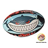 OPTIMUM Ballon de Rugby, Shark Attack, Taille 3 Unisex-Adult, Multicolore, 3