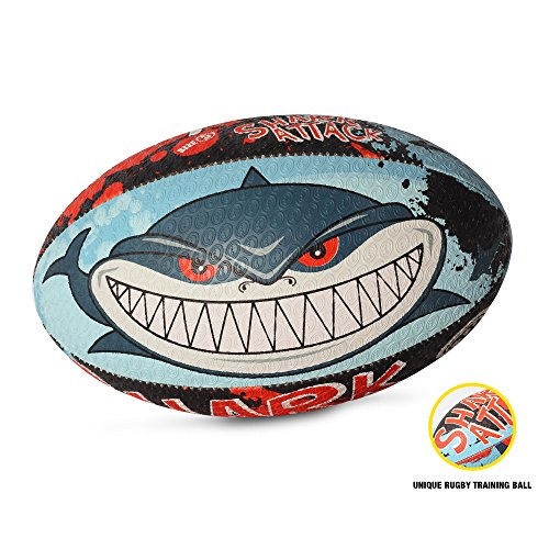 Optimum Herren Shark Angriff Mini Rugby Ball - mehrfarbig
