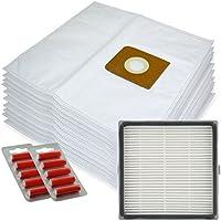 Spares2go gamuza de microfibra bolsas + H13 HEPA filtro para Nilfisk King 500 Series aspiradoras (